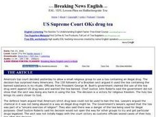 US Supreme Court Okays Drug Tea Worksheet