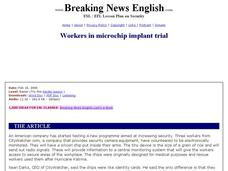 Workers in Microchip Implant Trial Worksheet