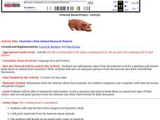 Charlotte's Web Animal Research Projects Lesson Plan