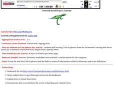 Dinosaur Dictionary Lesson Plan