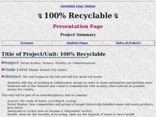 100% Recyclable Lesson Plan