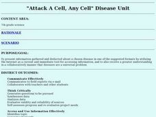 """Attack A Cell, Any Cell"" Disease Unit Lesson Plan"