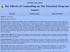 The Effects of Counseling on The Potential Drop-out Lesson Plan