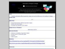 Geometric Shapes Collage Lesson Plan