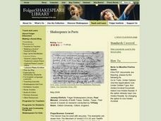 Shakespeare in Parts Lesson Plan