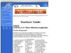 Mars Mission Logbooks Lesson Plan