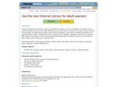 Use the New Internet Library for Adult Learners Lesson Plan