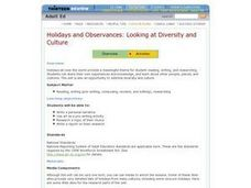 Holidays and Observances: Looking at Diversity and Culture Lesson Plan