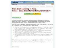 From the Beginning of Time, Online: Using the Internet to Explore History Lesson Plan