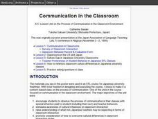 Communication in the Classroom Lesson Plan