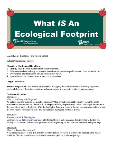 ecological footprint worksheets middle school ecological best free printable worksheets. Black Bedroom Furniture Sets. Home Design Ideas