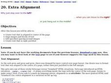 Extra Alignment Lesson Plan