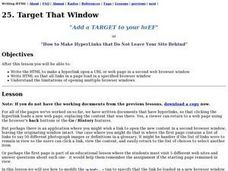 Target That Window Lesson Plan