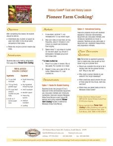 Pioneer Farm Cooking Lesson Plan