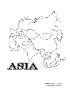 Asia Worksheet