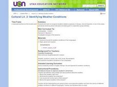 Identigying Weather Conditions Lesson Plan