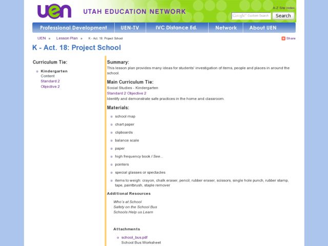 Project School Lesson Plan