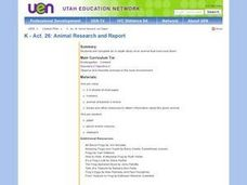 Animal Research and Report Lesson Plan