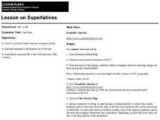 Lesson on Superlatives Lesson Plan