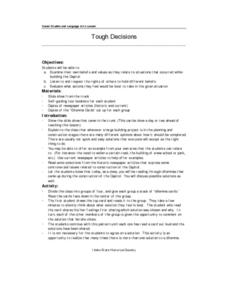 Tough Decisions Lesson Plan