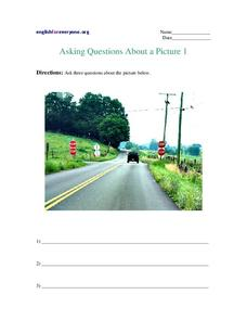 Asking Questions About a Picture 1 Worksheet