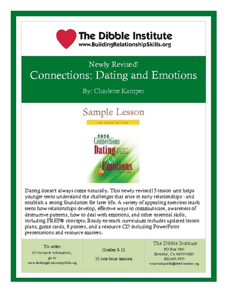 Dating and Emotions Lesson Plan