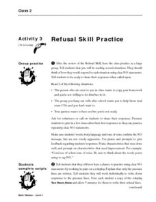 Refusal Skill Practice Lesson Plan