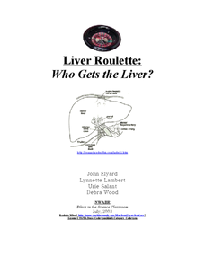 Liver Roulette: Who Gets the Liver? Lesson Plan