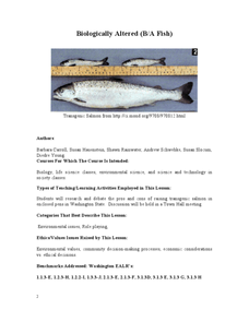 Biologically Altered (B/A Fish) Lesson Plan