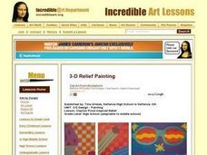 3-D Design - Painting Lesson Plan