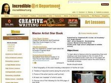Master Artist Star Book Lesson Plan