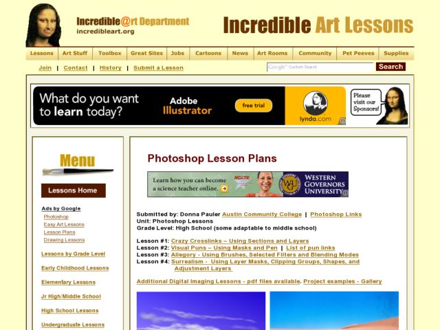 Photoshop Lessons Lesson Plan