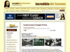 "Carborundum ""Intaglio"" Lesson Plan"