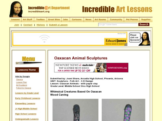 Oaxacan Animals Lesson Plan