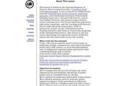 Columbus Park Lesson Plan