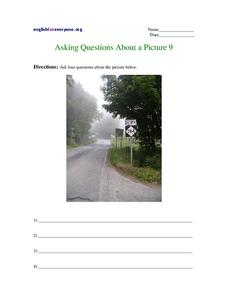 Asking Questions About a Picture 9 Worksheet
