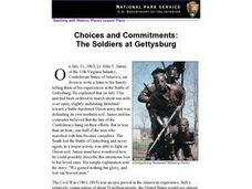 Choices and Commitments:  The Soldiers at Gettysburg Lesson Plan