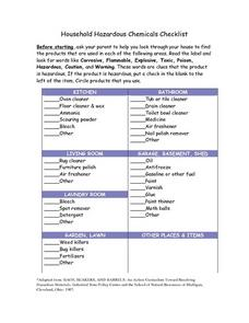 Household Hazardous Chemicals: Checklist Lesson Plan