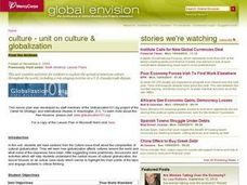 Culture - Unit on Culture & Globalization Lesson Plan