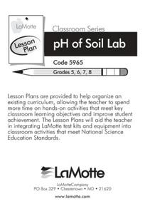 Introduction to pH in Soil and Demonstration of a Simple Soil Test Procedure Lesson Plan