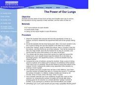 The Power of Our Lungs Lesson Plan