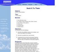 Sock It To Them Lesson Plan