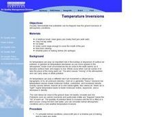 Temperature Inversions Lesson Plan