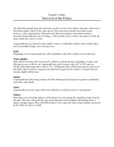 Survival of the Fishes Lesson Plan