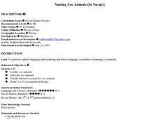 Naming Zoo Animals (In Navajo) Lesson Plan