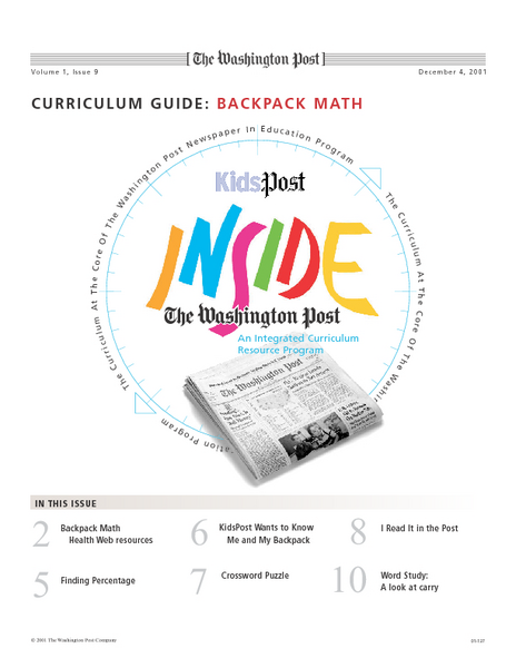 Backpack Math Lesson Plan