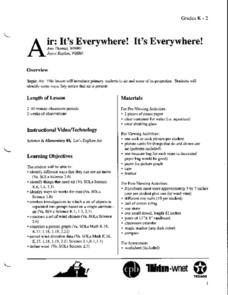 Air: It's Everywhere! It's Everywhere! Lesson Plan