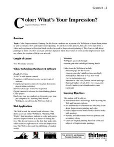 Color: What's Your Impression? Lesson Plan