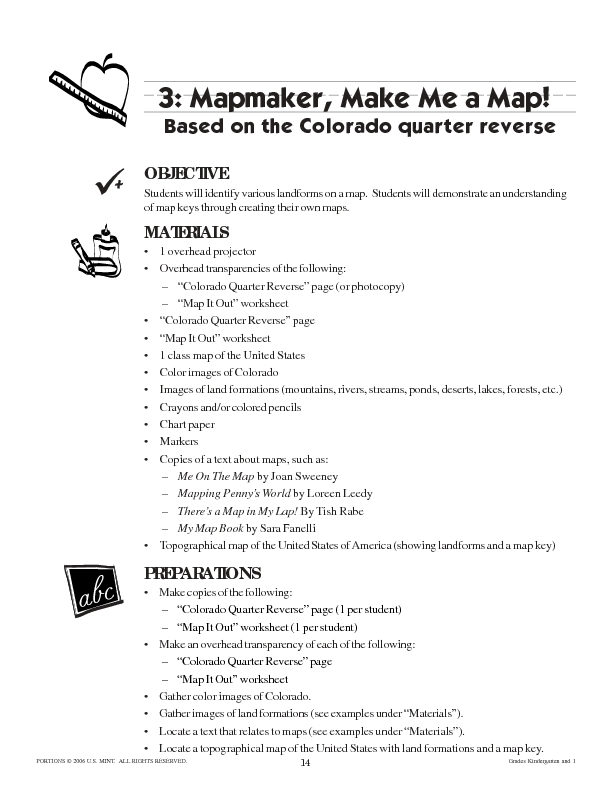 Mapmaker, Make Me a Map Lesson Plan