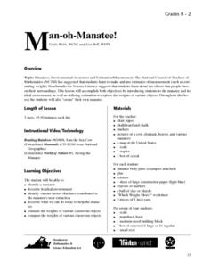 Man-oh-Manatee! Lesson Plan